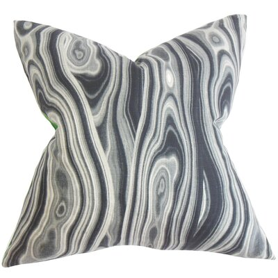 Boyer Geometric Cotton Throw Pillow Color: Ink, Size: 18 x 18
