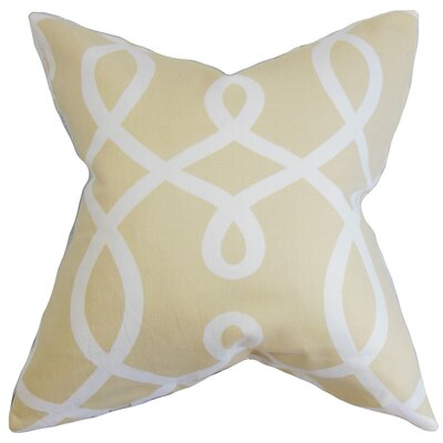 Chamblin Geometric Throw Pillow Color: Khaki, Size: 24 x 24