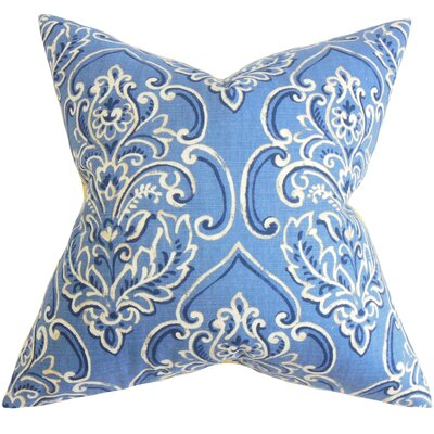 Chancellor Floral Throw Pillow Color: Blueberry, Size: 18 x 18