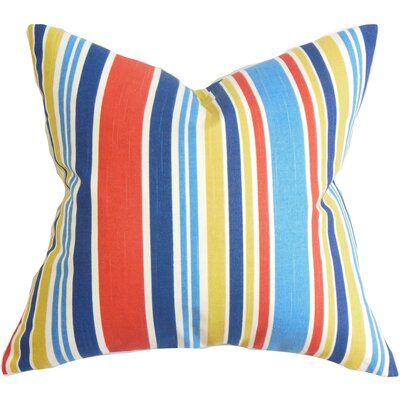 Manila Stripe Throw Pillow Cover Color: Red