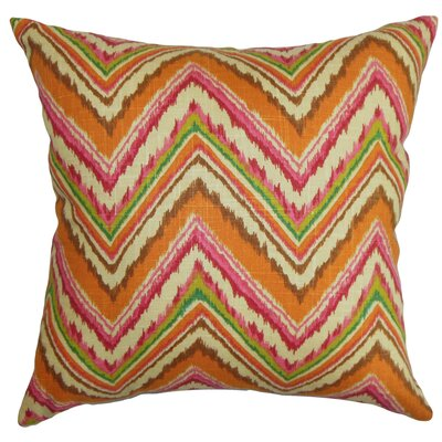 Dayana Zigzag Cotton Throw Pillow Color: Spice, Size: 18