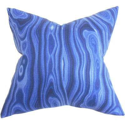 Boyer Geometric Cotton Throw Pillow Color: Ultramarine, Size: 18 x 18