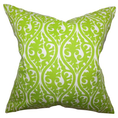 Mechria Geometric Cotton Throw Pillow Color: Chartreuse, Size: 18 x 18