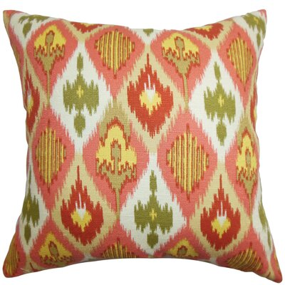 Bechet Ikat Cotton Throw Pillow Size: 22 x 22