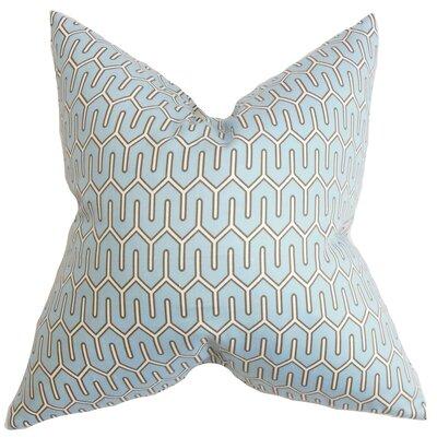 Aleeza Geometric Cotton Throw Pillow Color: Azure, Size: 22 x 22