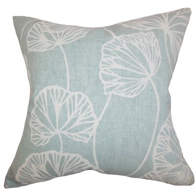 Fia Floral Throw Pillow Color: Blue, Size: 24 x 24