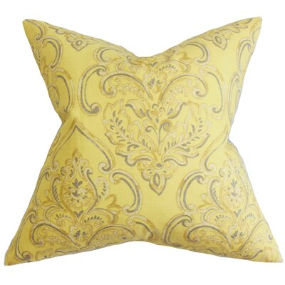 Yonah Floral Throw Pillow Cover Color: Yellow