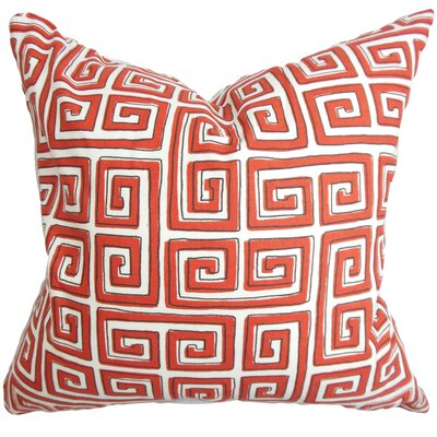 Klemens Geometric Cotton Throw Pillow Color: Poppy, Size: 18 x 18