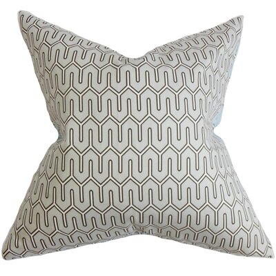 Aleeza Geometric Cotton Throw Pillow Color: Dove, Size: 18 x 18