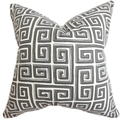 Klemens Geometric Cotton Throw Pillow Color: Storm, Size: 24 x 24