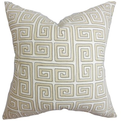Klemens Geometric Cotton Throw Pillow Color: Twine, Size: 18 x 18