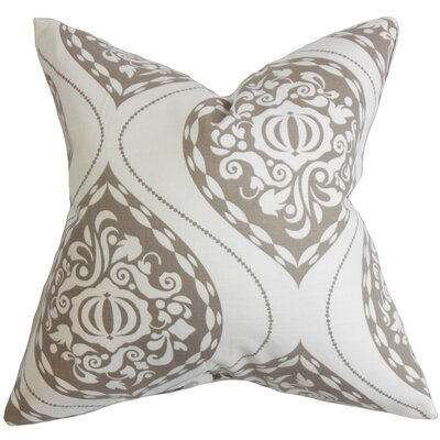 Jessica Floral Square Cotton Throw Pillow Cover
