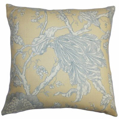 Chambord Floral Bedding Sham Color: Natural/Gray, Size: Standard
