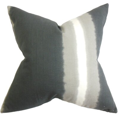 Djuna Stripe Cotton Throw Pillow Color: Grey Stone, Size: 18 H x 18 W