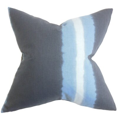Djuna Stripe Cotton Throw Pillow Color: Indigo, Size: 18