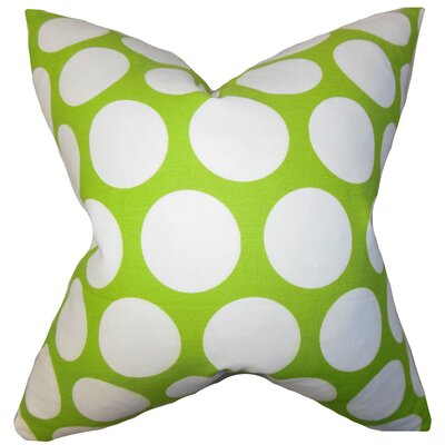 Dilly Geometric Cotton Throw Pillow Size: 18 x 18