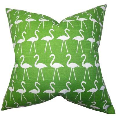 Brylee Animal Print Cotton Throw Pillow Color: Coastal Green, Size: 20 x 20