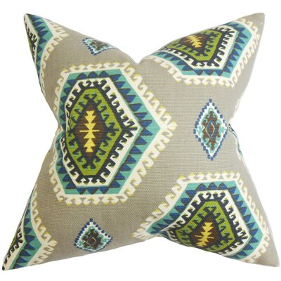 Lorne Geometric Cotton Throw Pillow Size: 18 x 18
