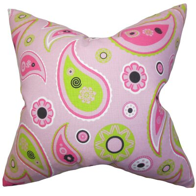 Grady Floral Cotton Throw Pillow Size: 20