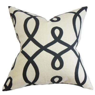 Chamblin Geometric Throw Pillow Cover Size: 18 x 18, Color: Jet
