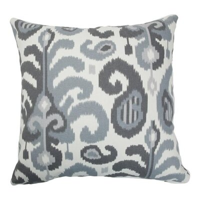 Scebbi Ikat Bedding Sham Size: Queen, Color: Steel
