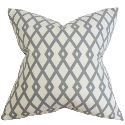 Tova Geometric Cotton Throw Pillow Cover Color: Gray