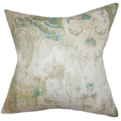 Havilah Floral Cotton Throw Pillow Cover Color: Natural