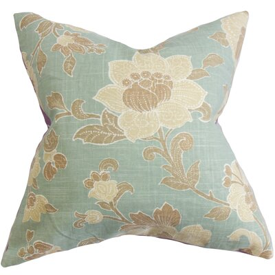 Duscha Floral Throw Pillow Cover Size: 18 x 18, Color: Surf