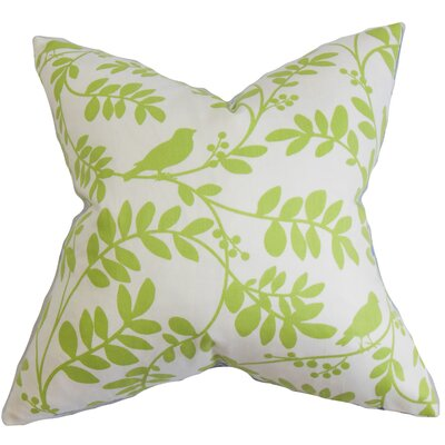 Lamplough Floral Outdoor Throw Pillow Cover Color: Green