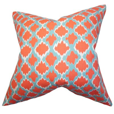 Welcome Geometric Cotton Throw Pillow Color: Coastal, Size: 18 x 18