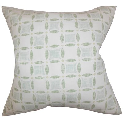 Jeune Geometric Throw Pillow Cover Color: Green