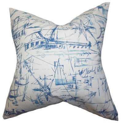 Hobson Coastal Cotton Throw Pillow Cover