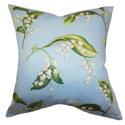 Bekele Floral Cotton Throw Pillow Size: 22 x 22