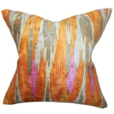 Ulyanka Geometric Throw Pillow Color: Nectar, Size: 18 H x 18 W