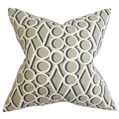 Hardaway Geometric Cotton Throw Pillow Color: Gray Stone, Size: 24 x 24