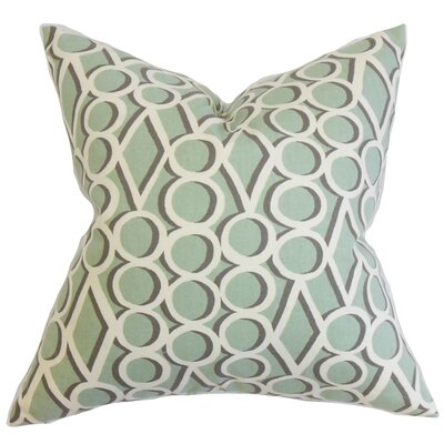 Blaise Geometric Bedding Sham Color: Green, Size: King