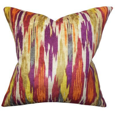 Ulyanka Geometric Throw Pillow Color: Spice, Size: 20