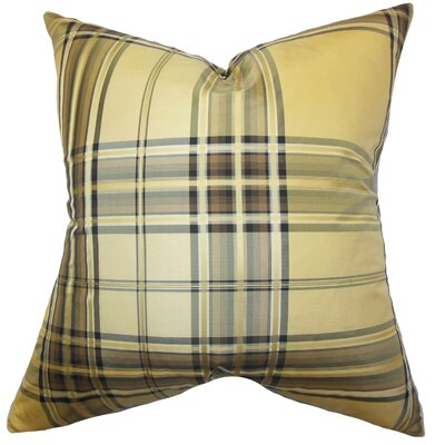 Fiorella Plaid Silk Throw Pillow Size: 18 x 18