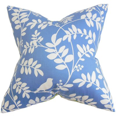 Nyssa Floral Cotton Throw Pillow Color: Hydrangea, Size: 18 x 18