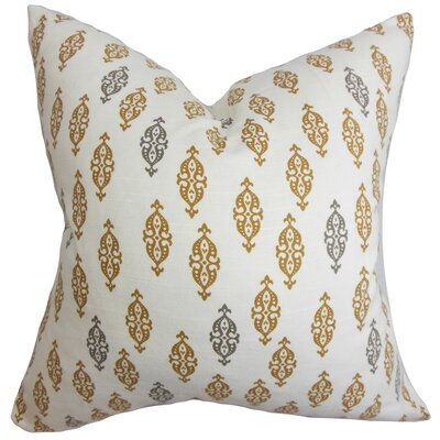 Ziven Geometric Cotton Throw Pillow Color: Camel, Size: 18 x 18