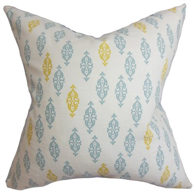 Ziven Geometric Cotton Throw Pillow Color: Jade, Size: 24 x 24