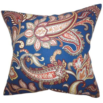 Glasgow Floral Throw Pillow Color: Navy Blue, Size: 18x18