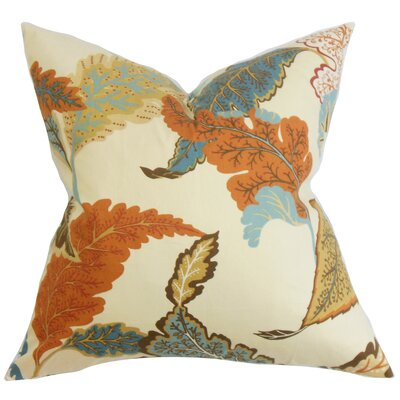 Patton Floral Throw Pillow Color: Autumn, Size: 20 x 20