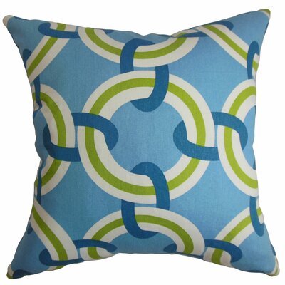 Katyin Geometric Cotton Throw Pillow Size: 18x18