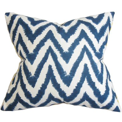 Kingspear Zigzag Bedding Sham Size: Queen, Color: Navy Blue