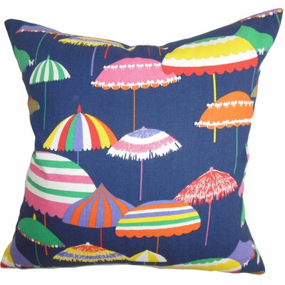 Yaffa Geometric Cotton Throw Pillow Color: Jewel, Size: 18x18