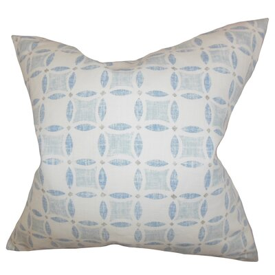 Jeune Geometric Bedding Sham Size: Queen, Color: Blue