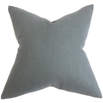 Yaretzi Solid Throw Pillow Cover Color: Gray