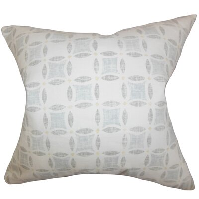 Jeune Geometric Bedding Sham Size: Euro, Color: Gray