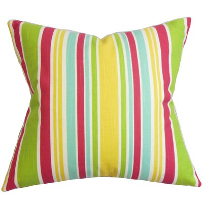 Kirsi Stripe Cotton Throw Pillow Color: Calypso, Size: 18 x 18